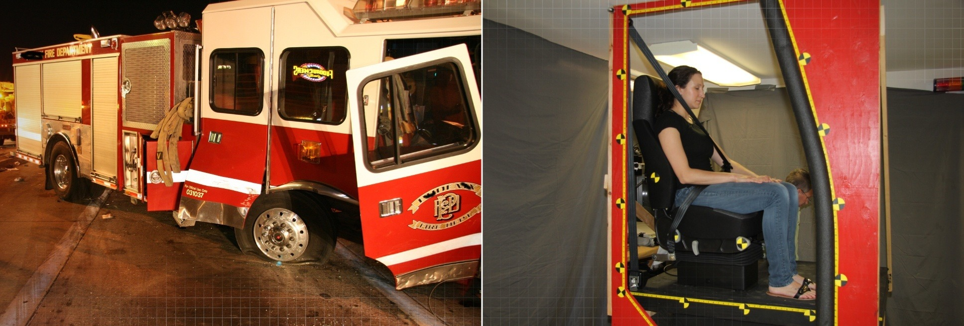 case study fire truck seat belt failure arcca experts and engineers. Black Bedroom Furniture Sets. Home Design Ideas