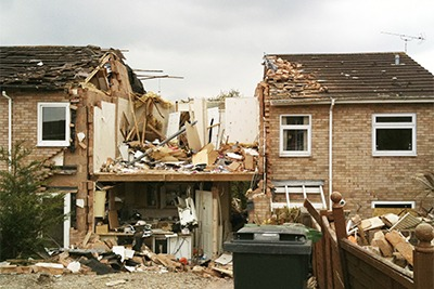 House that has Suffered from Explosion