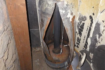 Water Heater that has Caught Fire